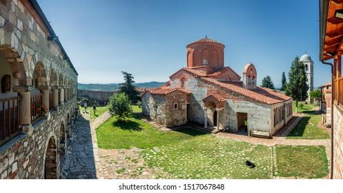 APOLLONIA, ALBANIA - July 24, 2019: Byzantine church of St Mary in Apollonia, Albania