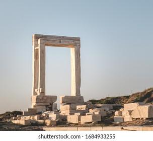 Apollo's Ancient Greek Temple on Naxos Cyclades Greece,a.k.a Portara