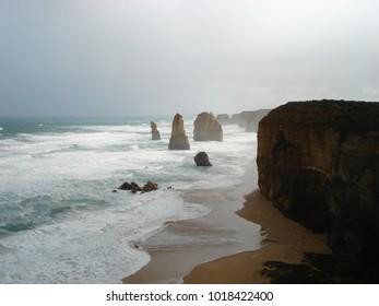 Apostles in a rough sea