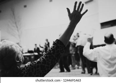 Apostolic Pentecostal Church Service Preaching Praise and Worship Praying Holy Ghost Speaking in Tongues Bible