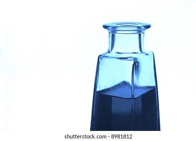Apothecary blue perfume glass bottle