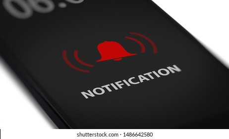 App Notification on Smart Phone Screen.