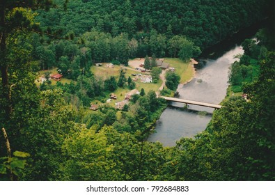 Appalachia bridge and river from vista