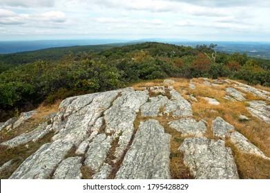 An Appalachian Autumn Mountain Top. Destination High Point State Park in New Jersey
