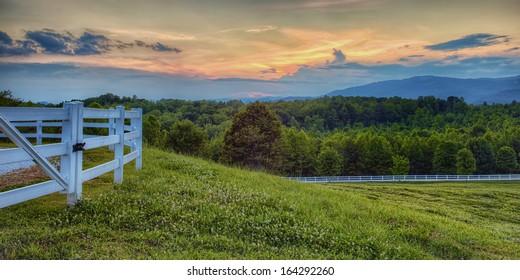 """Appalachian Evening"" Dusk in the southern Appalachian Mountains."
