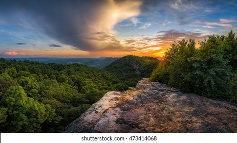 Appalachian Mountains, Kentucky and Virginia State Line, scenic sunset