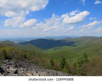 Appalachian Mountains in Shenandoah Natl Park