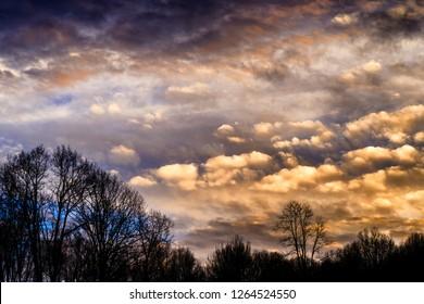 Appalachian summer sunset, Webster County, West Virginia, USA