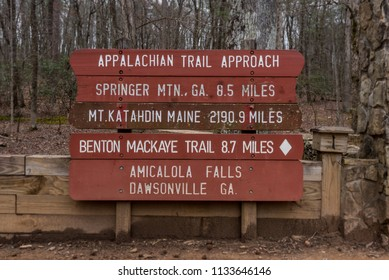 Appalachian Trail Approach Sign for 2018 in Amicalola Falls State Park