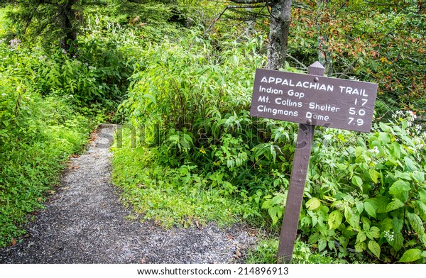 The Appalachian Trail. The Appalachian trail as it approaches Clingmans Dome. At over 6000 ft. this is the highest elevation of the trail within the Great Smoky Mountains National Park.