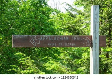Appalachian Trail Sign Maine to Georgia