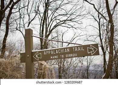 Appalachian Trail Sign, Peters Mountain PA. Maine to Georgia