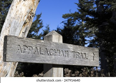 Appalachian Trail wooden sign