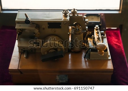 Apparatus Electric Telegraph American Inventor Samuel Stock Photo