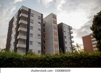 appartment building, High-rise, residential building in Huerth, NRW Germany - 09 07 2019
