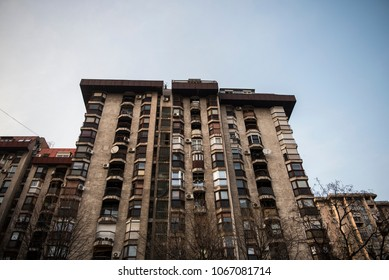 An appartment building at the town of Smederevo in Eastern Serbia.