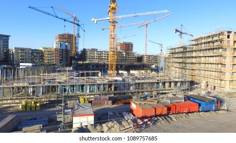 Appartments under construction in Amsterdam