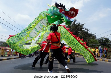 The appearance of Liang Liong during the cultural process welcomed the 193rd anniversary of Eng An Kiong Temple in Malang City, East Java - Indonesia on 21 October 2018.