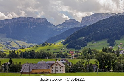 Appenzell alps landscape in Switzerland