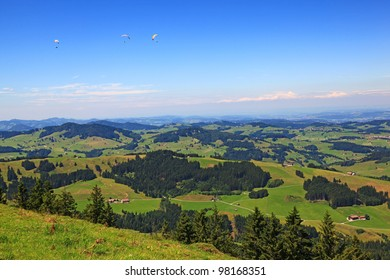 Appenzell Mountains in Switzerland