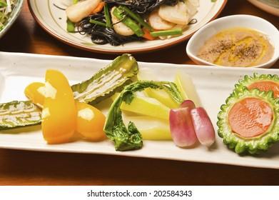 Appetizer Of Okinawan Cuisine Vegetables