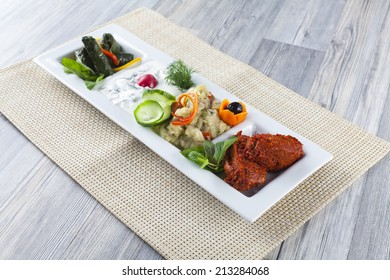 appetizer on white plate