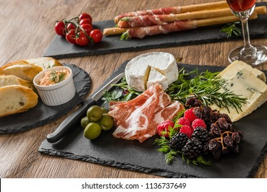 Appetizer platter of liquor in Europe area