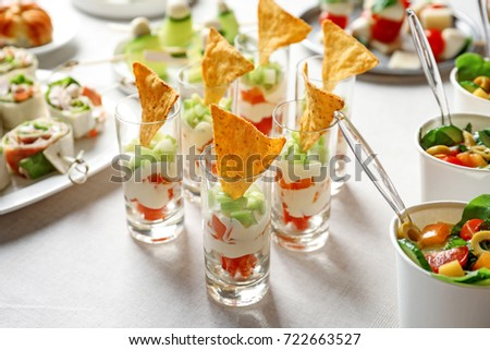 Appetizers Baby Shower Party On Table Stock Photo Edit Now