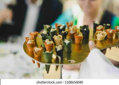 Appetizers in a Mediterranean wedding, a single-bite snack