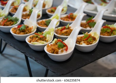 appetizers thai cuisine served on white cup food cocktail