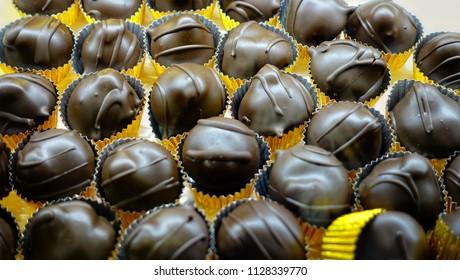 appetizing chocolates background