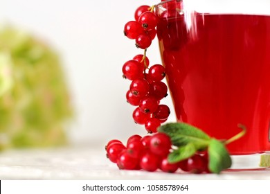Appetizing drink of red currant.