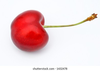 an appetizing fruit a red cherry