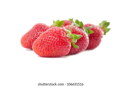 Appetizing strawberry on a white background