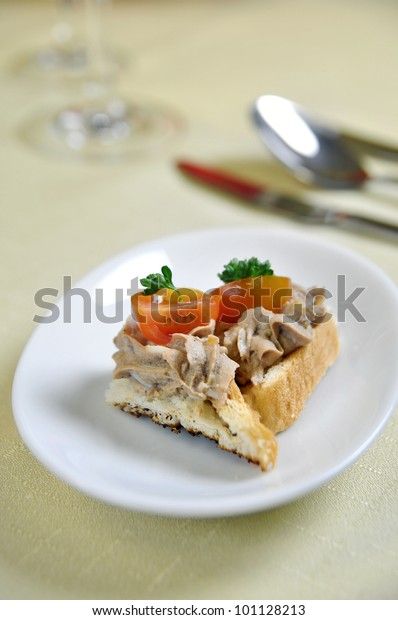 Appetizzer Couvert Krkonosska Goodness Czech Cuisine Stock Photo