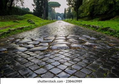 Appian Way Antique. Rome, Italy.