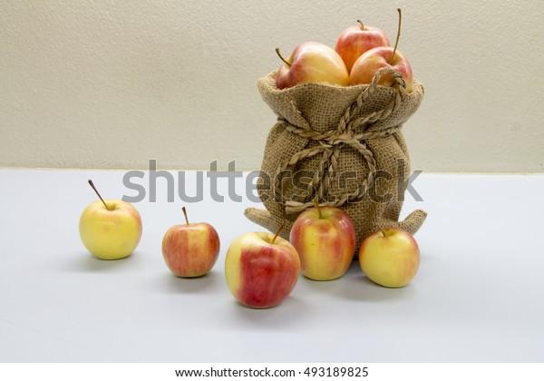 apple in bag