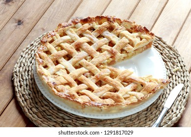 Apple Cake or Tart with Lattice Puff Pastry