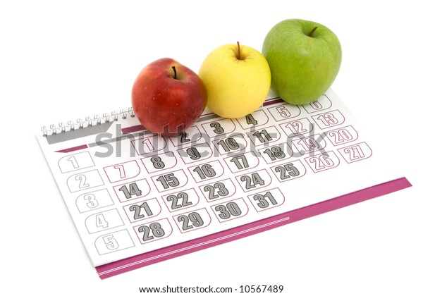 apple calendar with three color