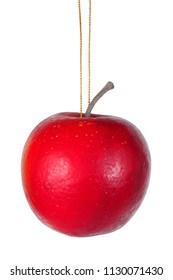 Apple - Christmas tree decoration on white