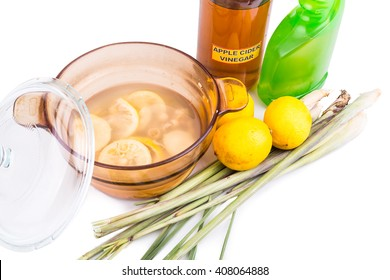 Apple cider vinegar, lemon and lemongrass home remedy, safe and effective formula to repel mosquito, fleas and bugs