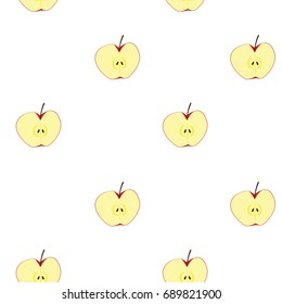 apple clipart illustration, for seamless background