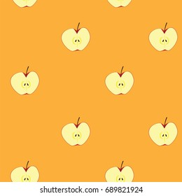 apple clipart illustration, for seamless background.