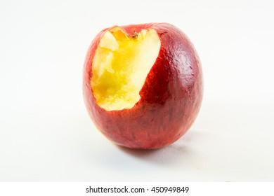 apple eat on white  background