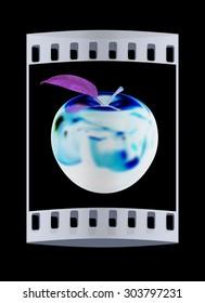 apple. The film strip