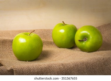 Apple, Green Apple, Still Life with apple on sunlight and shadows