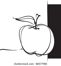 apple icon, freehand drawing (raster version)