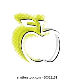 apple icon, simple clean symbol (raster version)