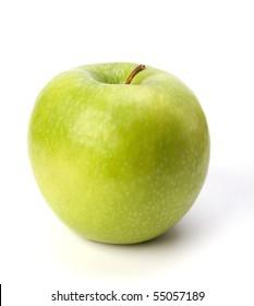apple isolated on white background close up