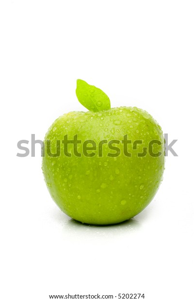 apple isolated on the white background